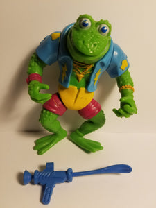 1990 TMNT Loose Genghis Frog Action Figure