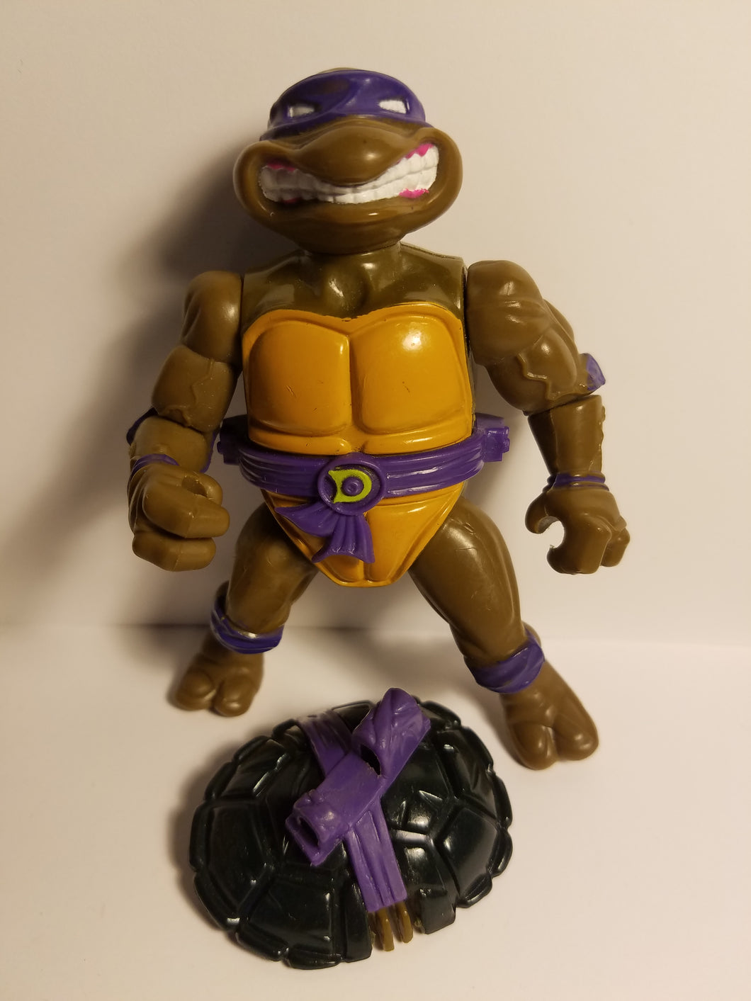 1990 TMNT Loose Storage Shell Donatello Action Figure