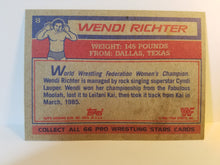 Load image into Gallery viewer, 1985 WWF Topps Wendi Richter Trading Card
