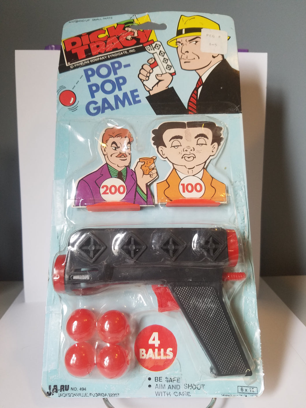 70's Dick Tracy Pop-pop Game