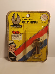 1975 Dick Tracy Silver Eagle Key Ring