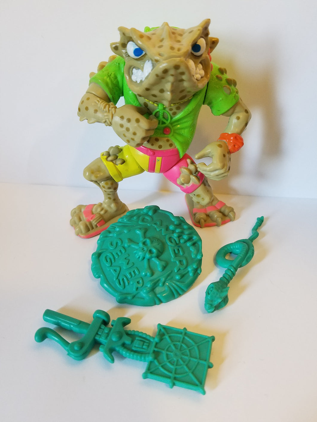 1990 TMNT Loose Napolean Bona Frog Action Figure