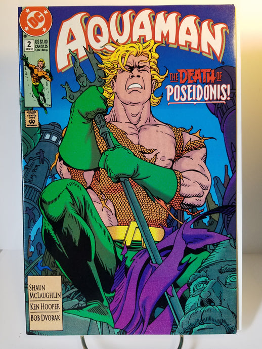1992 DC Aquaman The Death of Poseidonis Comic Book #2
