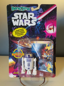 1993 Star Wars Bend Ems R2-D2 Figure in Square Bubble