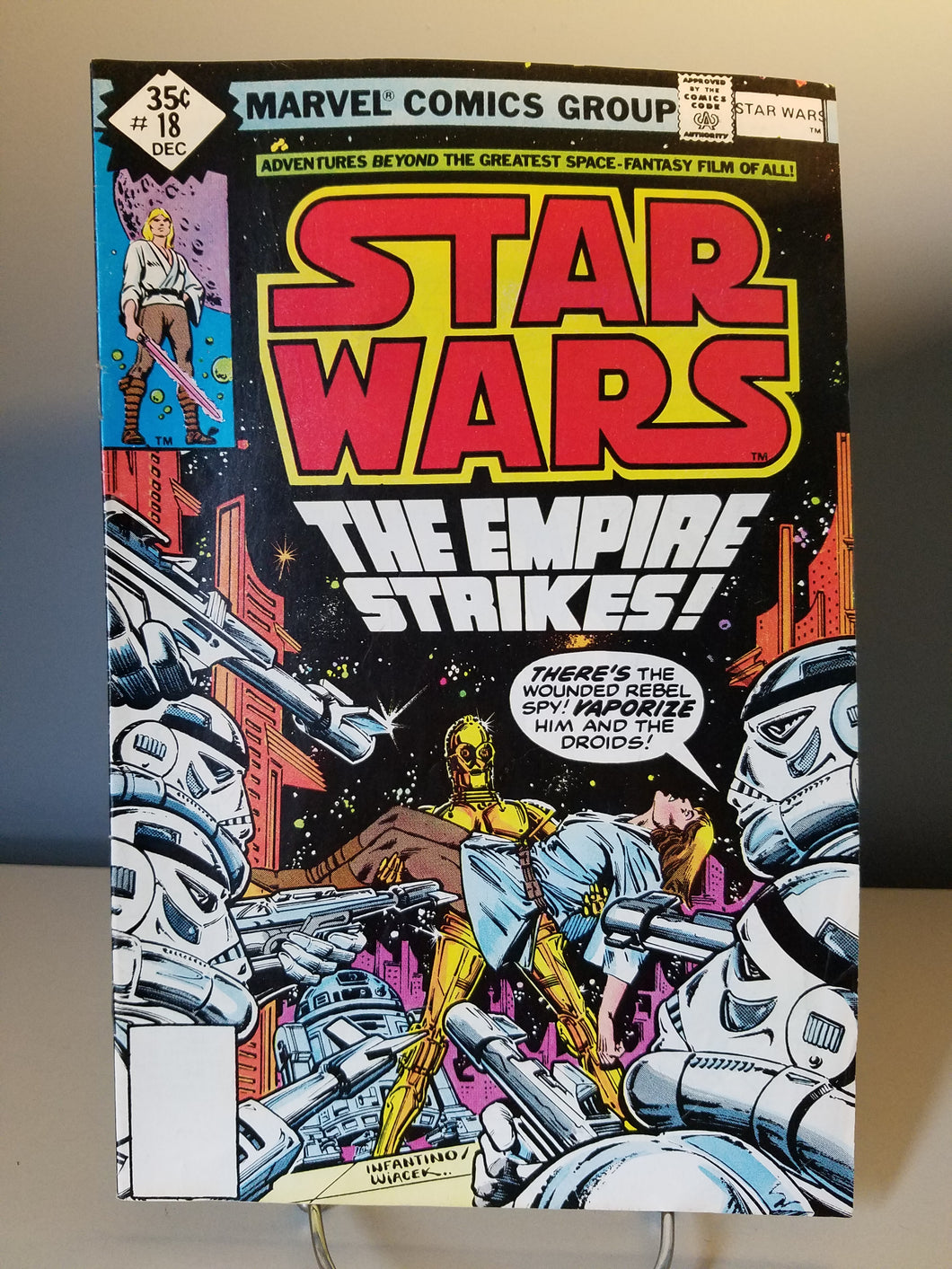 1978 Star Wars Marvel Comic Book #18 The Empire Strikes Back
