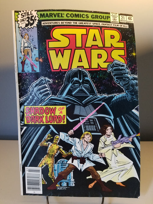 1979 Star Wars Marvel Comic Book #21 Shadow of a Dark Lord