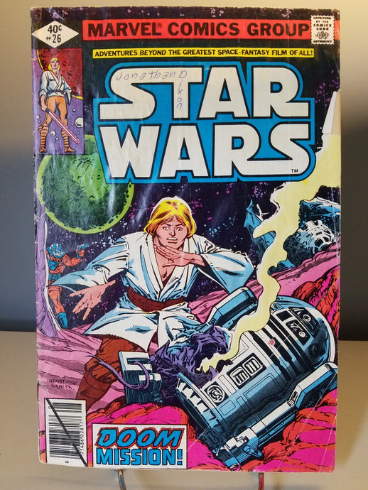 1979 Star Wars Marvel Comic Book #26 Doom Mission