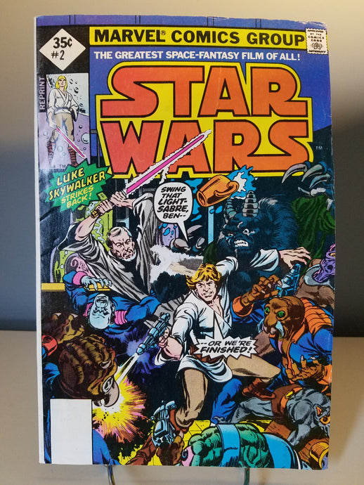 REPRINT of 1977 Star Wars Marvel Comic Book #2 Luke Skywalker Strikes Back