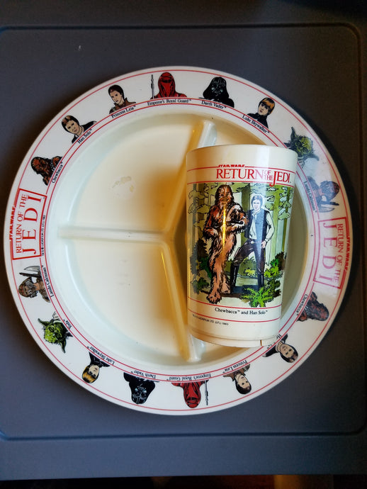 1983 Star Wars ROTJ Plate and Cup