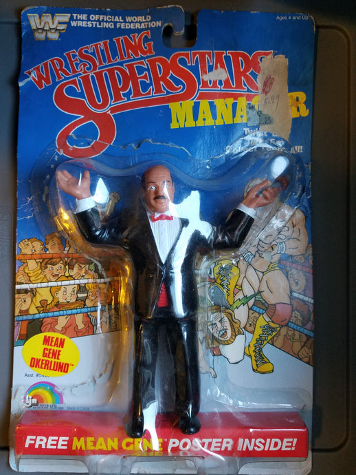 1986 WWF WWE Mean Gene Okerlund Wrestling Figure
