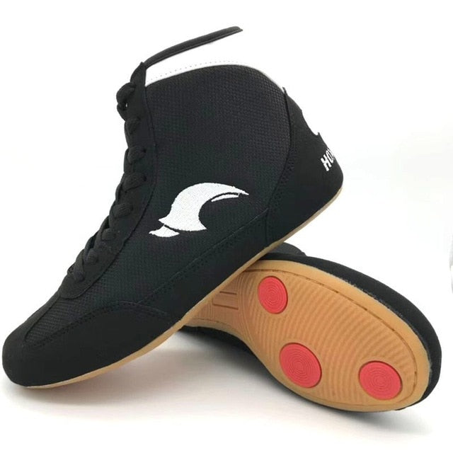 Professional Boxing Wrestling Shoes Rubber Outsole Breathable Combat  La