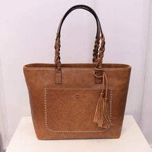 Load image into Gallery viewer, light brown leather hand bag