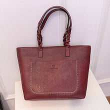 Load image into Gallery viewer, Red leather shoulder bag