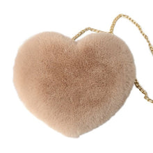 Load image into Gallery viewer, heart-shaped plush shoulder bag