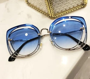 women's blue gradient sunglasses