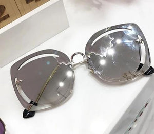 women's cut out sunglasses
