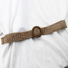 Load image into Gallery viewer, brown knitted wooden belt
