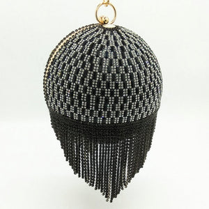 black egg shaped bag