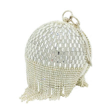 Load image into Gallery viewer, sparkling egg shaped tassel clutch
