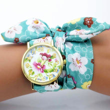 Load image into Gallery viewer, flower cloth watch for women