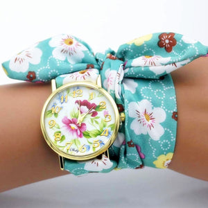 flower cloth watch for women