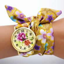 Load image into Gallery viewer, floral cloth watch