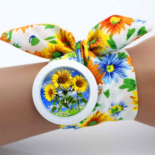 Load image into Gallery viewer, sunflower cloth watch