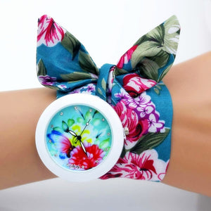 beautiful floral cloth watch
