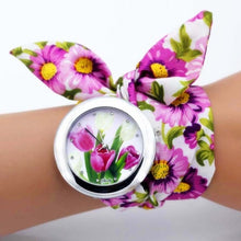 Load image into Gallery viewer, purple floral watch