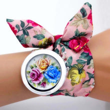 Load image into Gallery viewer, unique floral wrap around watch