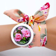 Load image into Gallery viewer, pretty floral cloth watch