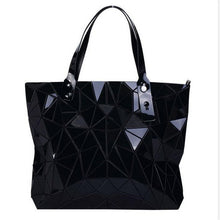 Load image into Gallery viewer, black geometric bag