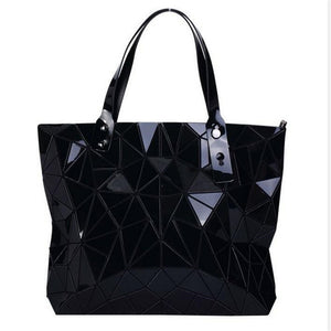 black geometric bag