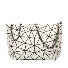 Load image into Gallery viewer, white geometric shoulder bag