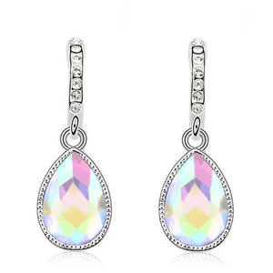 clear drop pendant earrings