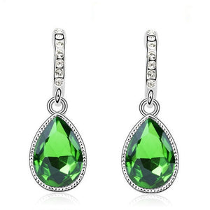 green pendant earrings