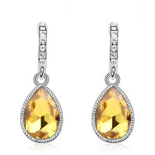 Load image into Gallery viewer, yellow and silver drop earrings