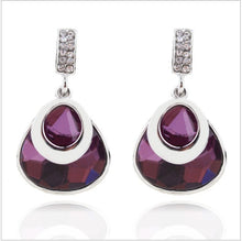 Load image into Gallery viewer, Stone Colored Pendant Earrings