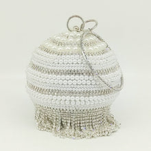 Load image into Gallery viewer, egg shaped clutch with tassels