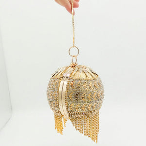 Sparkling Egg Shaped Clutch Bag