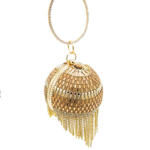 gold egg shaped purse