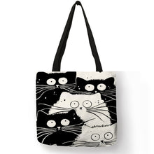 Load image into Gallery viewer, black and white tote bag