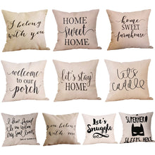 Load image into Gallery viewer, Quotes Cushion Cover