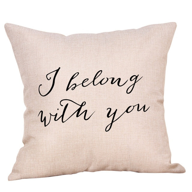 I belong with you cushion cover