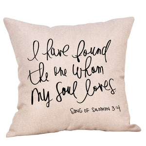 sweet message cushion cover