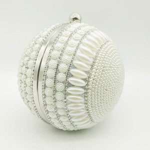 white egg shaped clutch