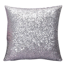Load image into Gallery viewer, silver sparkly cushion cover