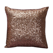 Load image into Gallery viewer, brown glittery cushion cover