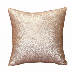 glittery gold cushion cover