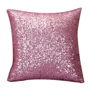 pink glitter sequin cushion covers